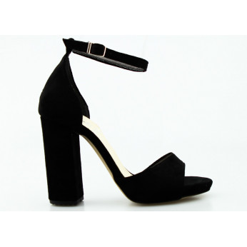 Black Suede Sandals Mary Lou