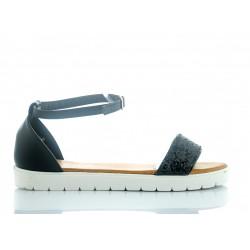 Sandały Czarne Glass