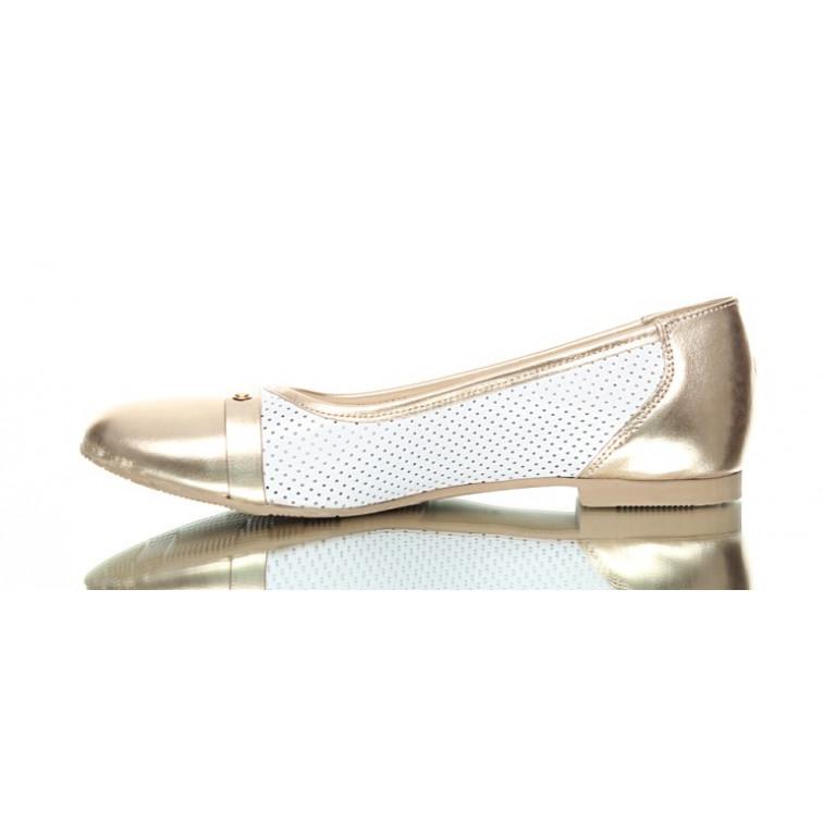 d86b1340 Baleriny Złoto-Białe Elegance - Ekstra Szpilki