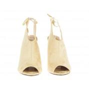 Beżowe Sandały Na Obcasie Velvet Story