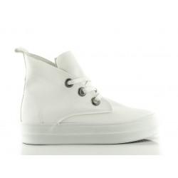 Modne Białe Sneakersy Damskie Total Fool