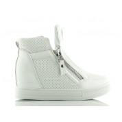 Sneakersy Białe Sweet Cream