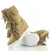 Sneakersy Z Frędzlami Dark Camel Breeze