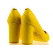 Szpilki Eko Zamszowe Żółte Estiq