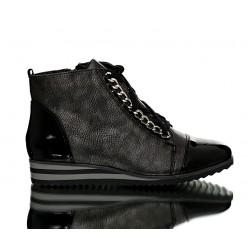 Sneakersy Czarne z Łańcuchem Rub