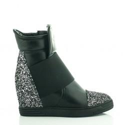 Sneakersy Czarne Z Brokatem Stellar