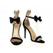 Sandały Na Szpilce Czarne Rabbit