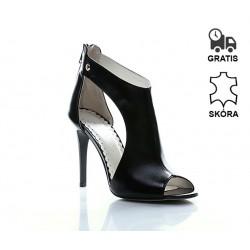Sandały Na Obcasie Skórzane Luxury Pure