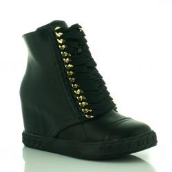 Czarne Sneakersy Casaley