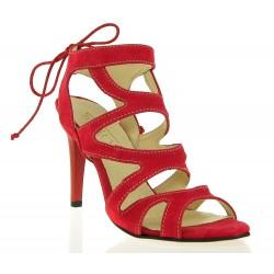 Czerwone Sandały Havana Suede