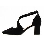 Sandały z Odkrytymi Bokami Zamszowe Czarne Bridget