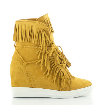 Sneakers With Fringed Camel Breeze