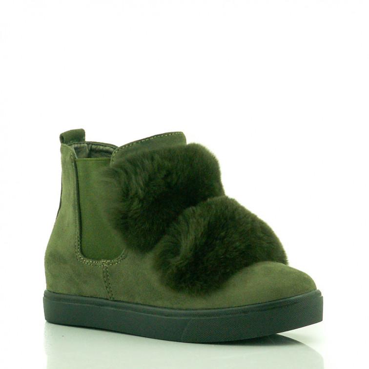 5746ec5b0d4fb Zielone Sneakersy z Futerkiem Total Zielone Sneakersy z Futerkiem Total ...