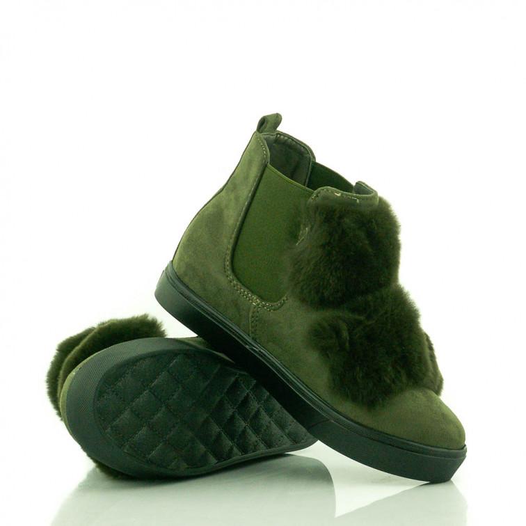 51f51da0ca20c -18% Niedostępny Zielone Sneakersy z Futerkiem Total