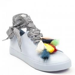 Damskie Wiązane Sneakersy Alameda Blue