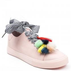 Damskie Wiązane Sneakersy Alameda Pink