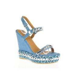 Sandały na Koturnie Rock Blue
