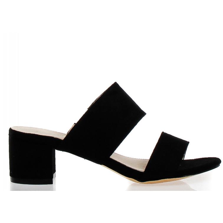 68600286809a Black Slippers On Heel Driada - Ekstra Szpilki