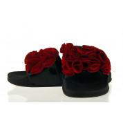 Klapki Damskie Z Czerwonymi Kwiatami Blou