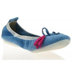 Baleriny Niebieskie Z Gumką Stil