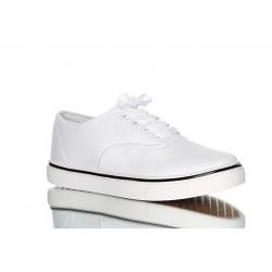 Białe tenisówki, stylowy i klasyczny fason