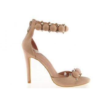 Sandały Na Szpilce Pompon L.Pink