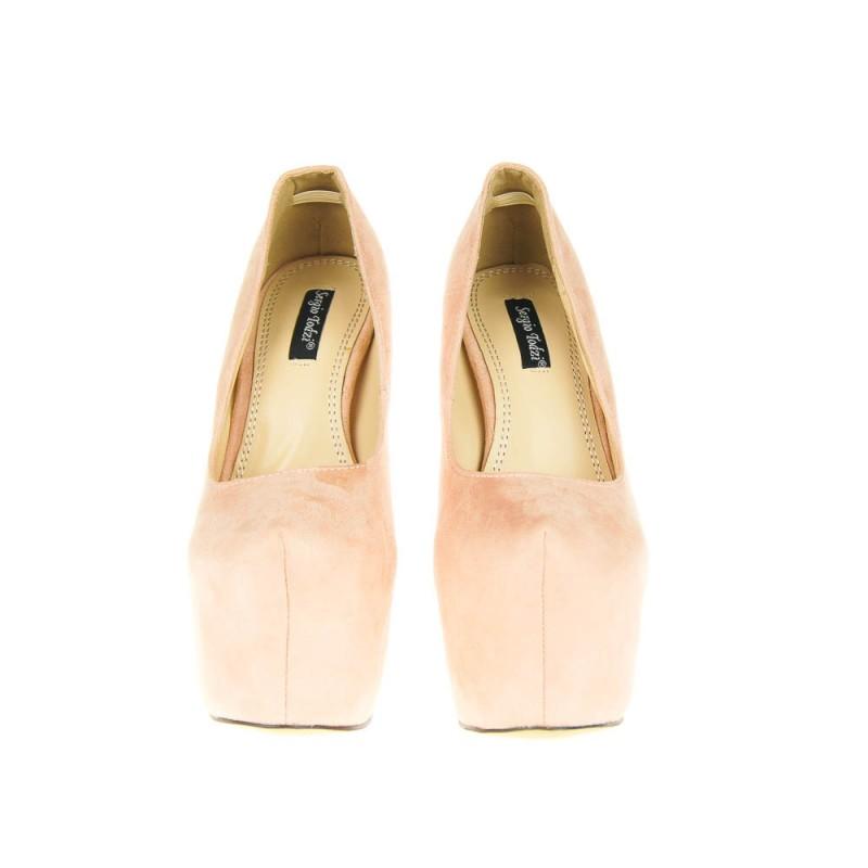 szpilki zamszowe - buty damskie