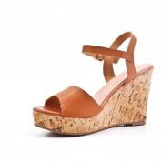 Sandały Na Koturnie Kamelowe Dorota