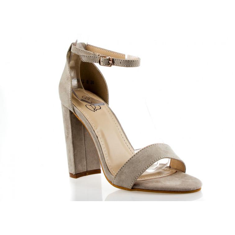 Sandały Z Klamerką Eko Zamszowe Granatowe Fashion Ekstra