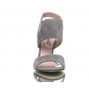 Sandałki Na Szpilce Szare Cash