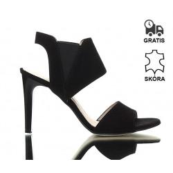 Sandałki Na Szpilce Czarne Cash