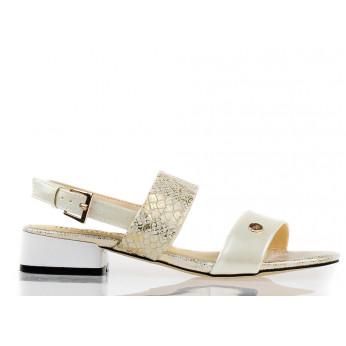 Sandały Na Słupku Monnari Białe Holidays