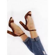 Sandały Z Klamerką Eko Zamszowe w Panterkę Nina
