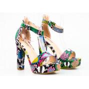 Sandały Wysokie Wężowe Kolorowe Taste The Rainbow