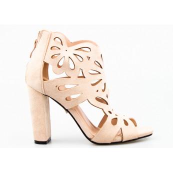 Sandały Ażurowe Zabudowane Beżowe Cherish Me