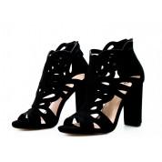 Sandały Ażurowe Zabudowane Czarne Cherish Me