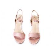 Sandały Na Słupku z Klamerką Różowe Girdle