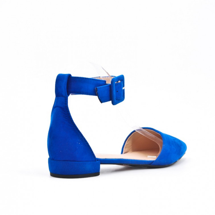 6d48f76c7 Blue Sandals On Low Heel Pointe - Ekstra Szpilki