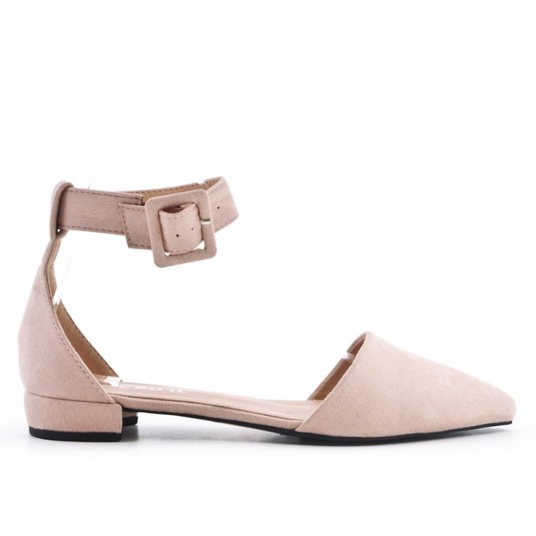 b76ee7388 Pink Sandals On Low Heel Pointe - Ekstra Szpilki