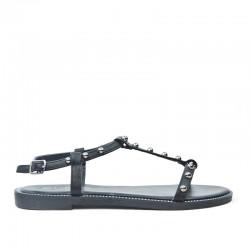 Sandały Damskie z Klamerką Czarne Gemmes