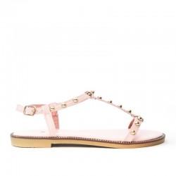 Sandały Damskie z Klamerką Różowe Gemmes