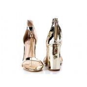 Sandały Lustrzane z Wisiorkiem Złote Pendant