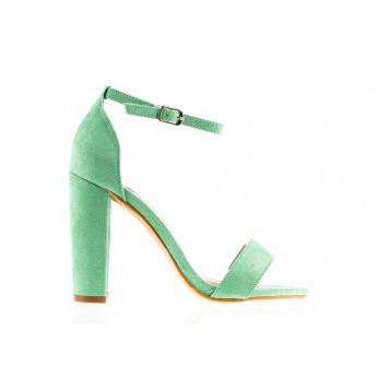 Sandały Z Klamerką Eko Zamszowe Zielone Fashion