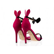 Sandały Na Szpilce Fuksja Rabbit
