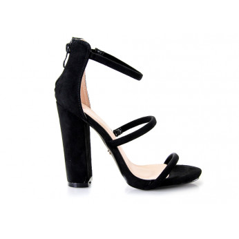 Sandały Na Słupku Czarne Emily