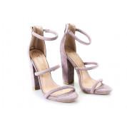 Sandały Na Słupku Fioletowe Emily