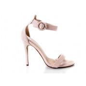 Sandały Na Szpilce Z Klamerką Beżowe Ginny