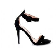 Sandały Na Szpilce Z Klamerką Czarne Ginny
