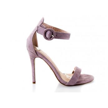 Sandały Na Szpilce Z Klamerką Fioletowe Ginny
