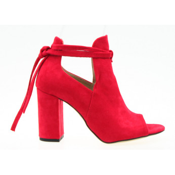Sandals Suede Red Lorna